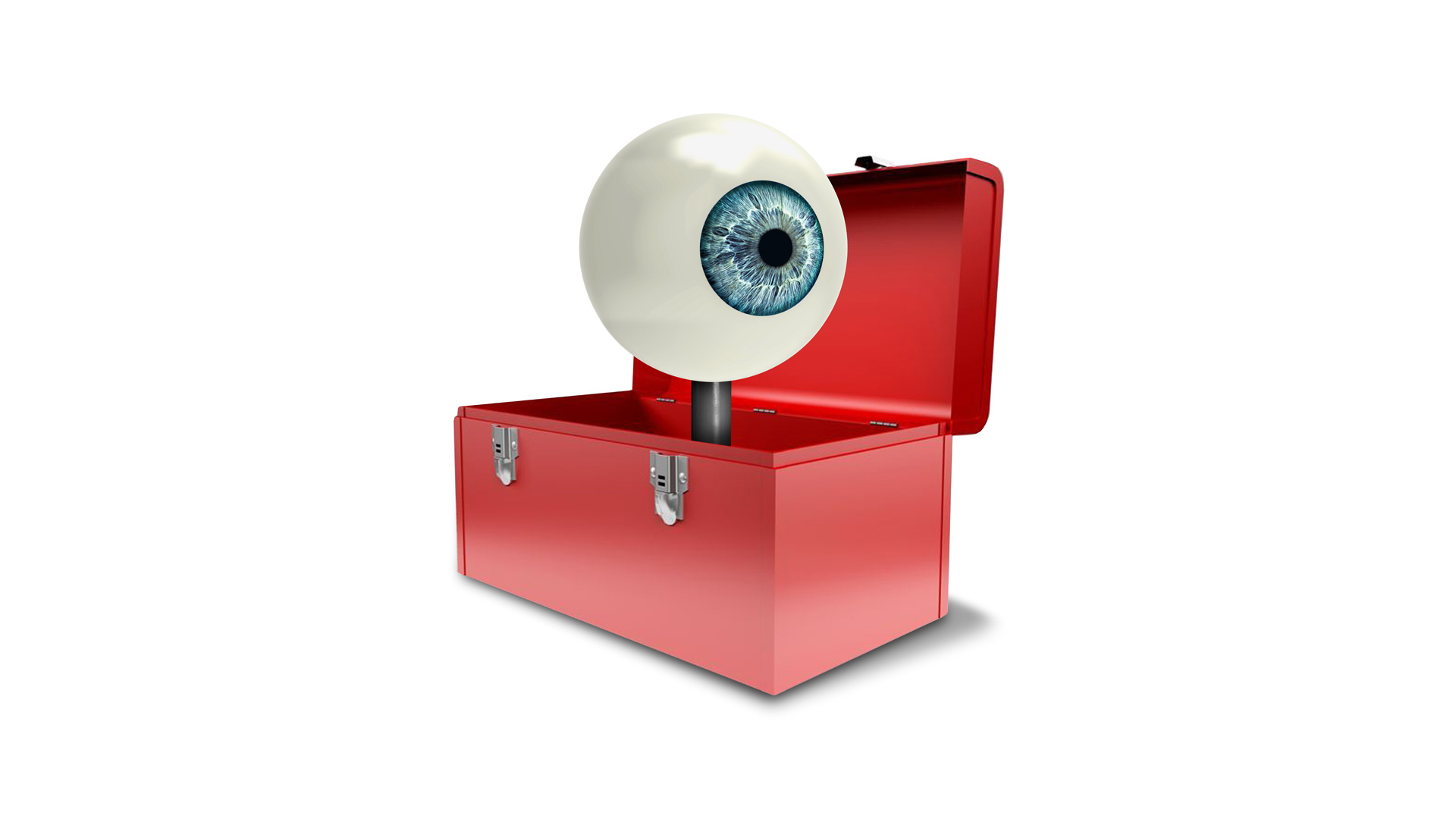 An eyeball, a toolbox - the symbol of the communication toolboxes that Orange Council is developing with companies.