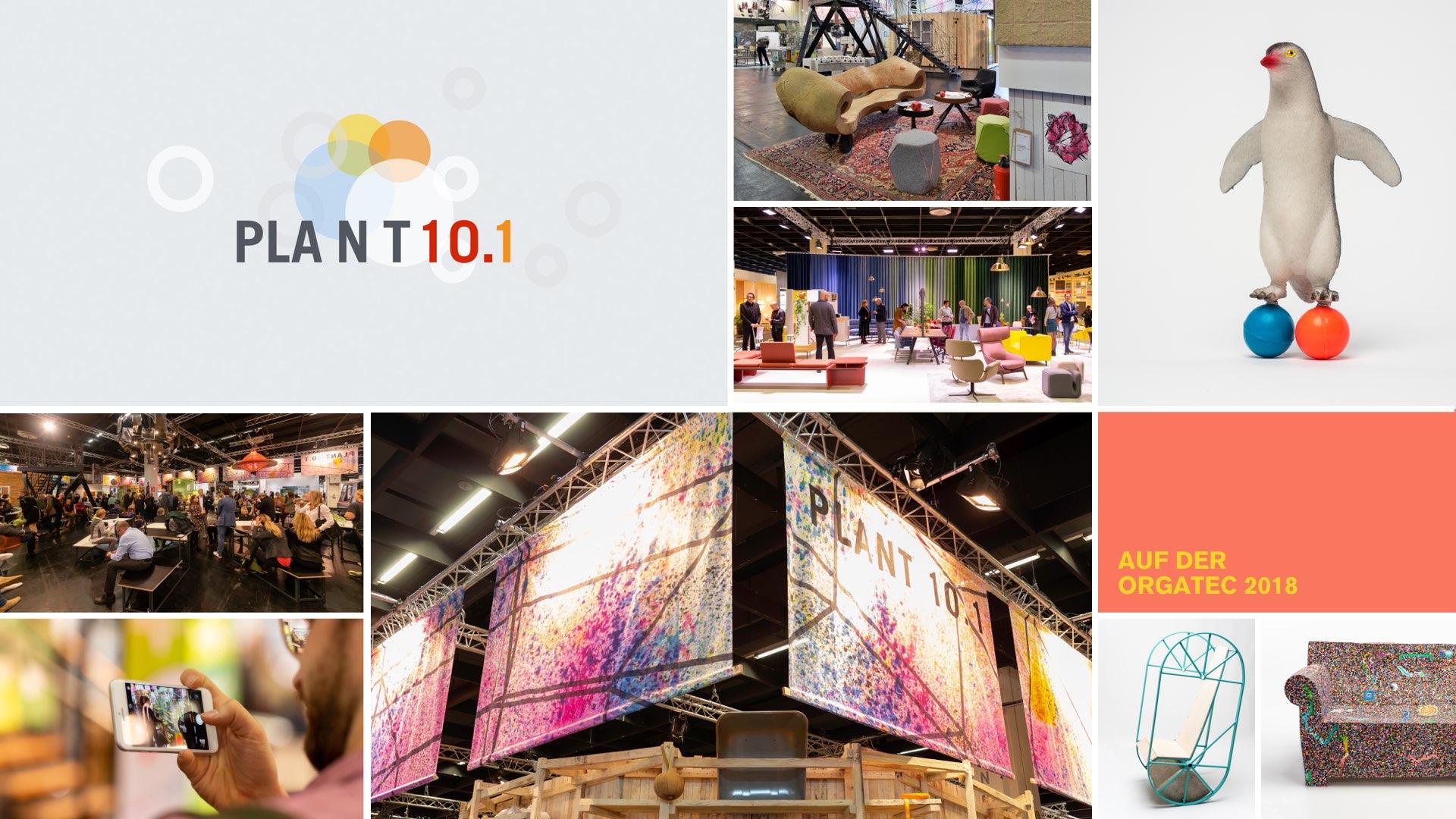 Von internationalen Künstlern gestaltete Inspirationsfläche Plant 10.1. Der etwas andere Messestand von Orange Council auf der Orgatec 2018