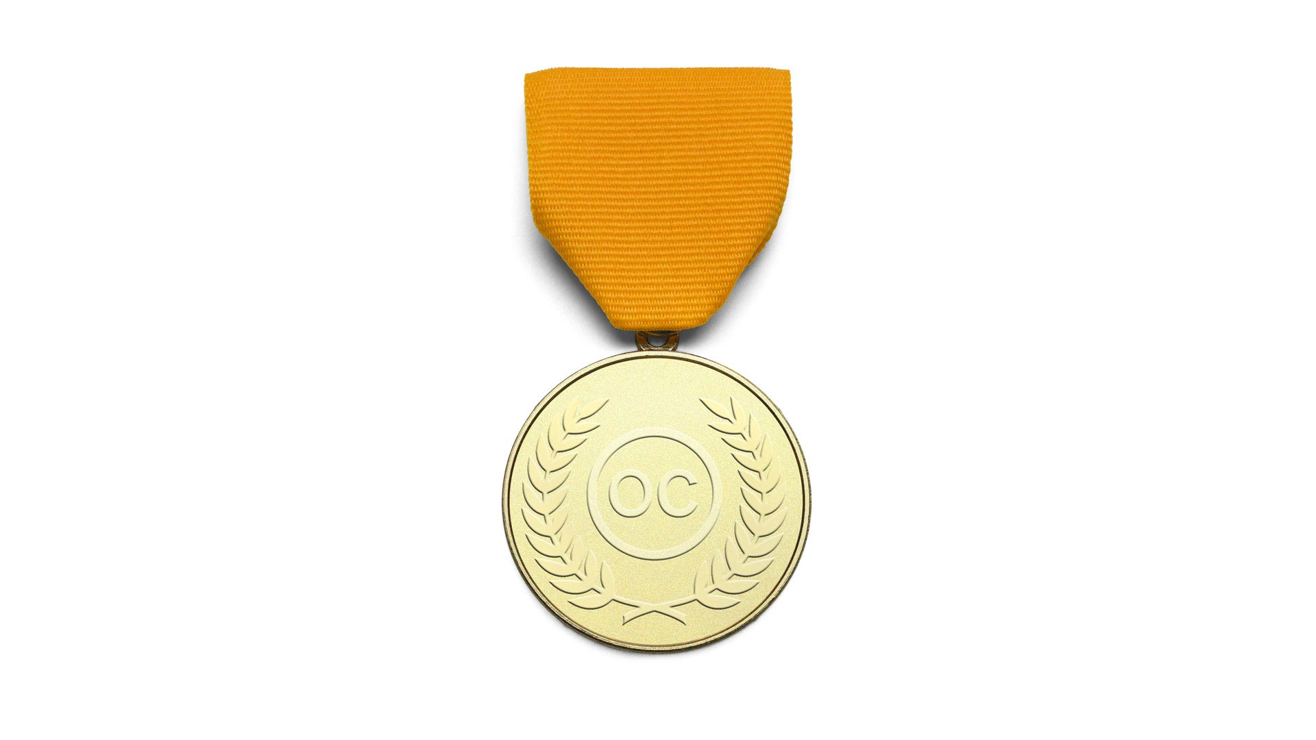 A gold medal, representing the prizes and awards that Orange Council has received in prestigious competitions.